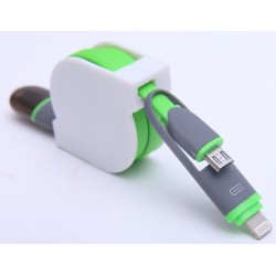 USB Cable 2 in 1  V8 + Iphone/ipad